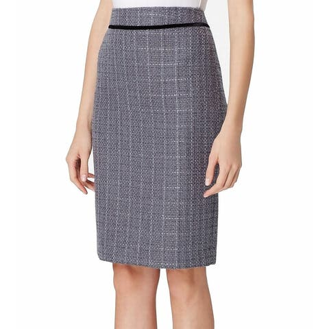 Tahari by ASL Women's Skirt Gray Size 2P Petite Straight Pencil Glitter