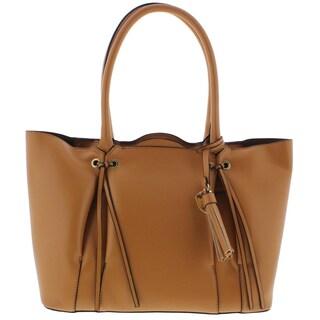 London Fog Womens Shopper Handbag Faux Leather Tote - LARGE