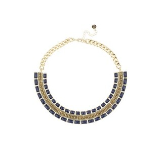 House of Harlow by Nicole Richie Womens Dynasty Collar Necklace Lapis Rhinestone - lapis/gold