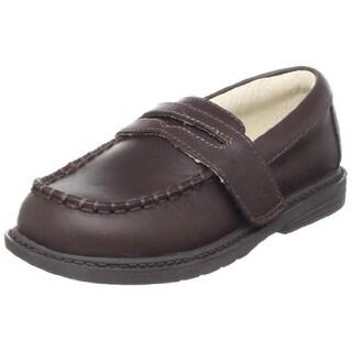 Pediped Boys Daniel Adjustable Leather Penny Loafers - 5 medium (d)