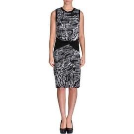 Artelier Nicole Miller Womens Sleeveless Knee-Length Wear to Work Dress