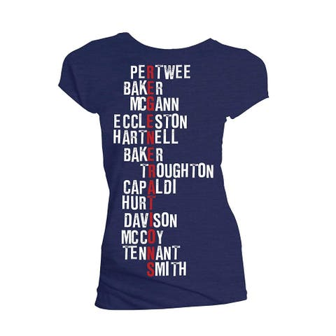 Doctor Who Classic Womens T-Shirt Regeneration Names