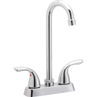 Elkay LK2477  Everyday 1.5 GPM Deck Mounted Bar Faucet with Metal Handles - Chrome