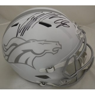 Von Miller Autographed Denver Broncos Full Size Ice Replica Helmet Name Only JSA