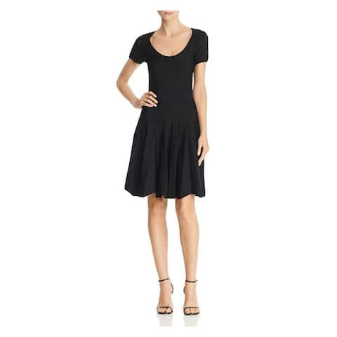 Shoshanna Black Short Sleeve Above The Knee Dress S