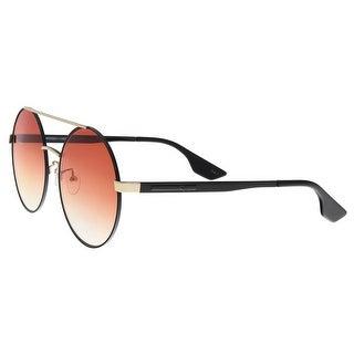 Alexander McQueen MQ0092S 004 Black/Gold Aviator Sunglasses