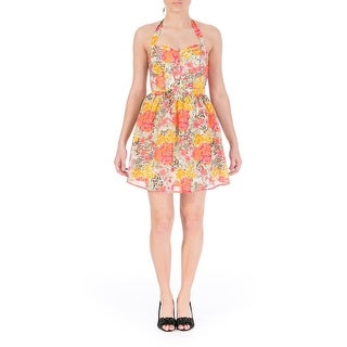 Guess Womens Printed Smocked Sundress - 12