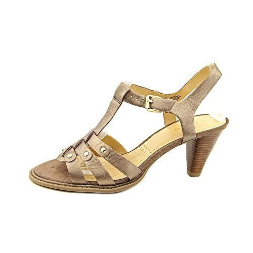 Easy Spirit Fostina Open Toe Leather Heels