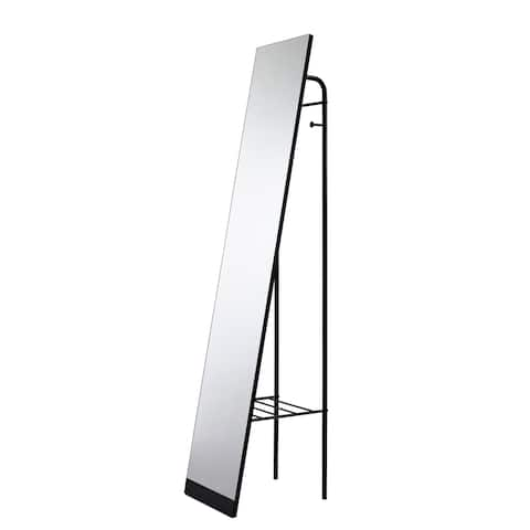 "Adesso WK2455 Tillie 58"" Rectangular Flat Free Standing Full Length Floor Mirror - Black"