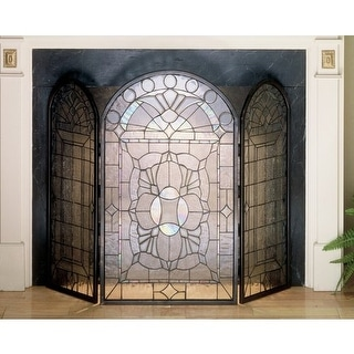 Meyda Tiffany 48104 Stained Glass / Tiffany Fireplace Screen from the Classic Fi