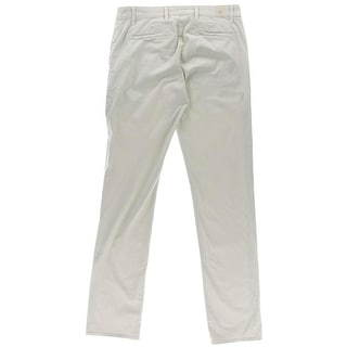 Adriano Goldschmied Mens The Lux Khaki Solid Flat Front Chino Pants
