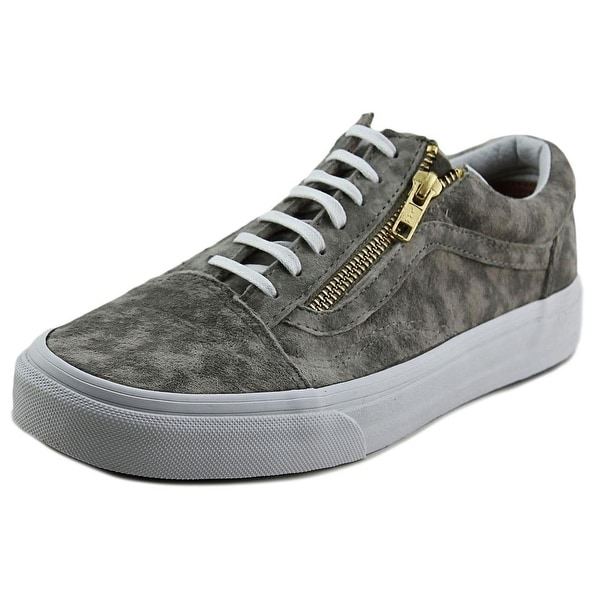 Vans Old Skool Zip Women Round Toe Synthetic Gray Sneakers