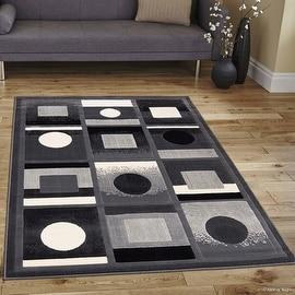 """Allstar Grey Modern Formal Area Rug (5' 2"""" x 7' 2"""")"""