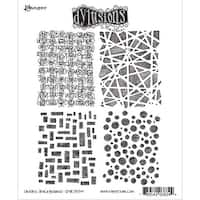 "Dyan Reaveley's Dylusions Cling Stamp Collections 8.5""X7""-Graphic Backgrounds"