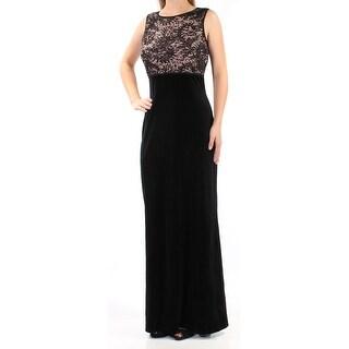 Womens Black Sleeveless FullLength Sheath Formal Dress Size: 8