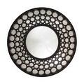 "24.75"" Glamorous Cascading Orbs Black Framed Round Wall Mirror - Thumbnail 0"