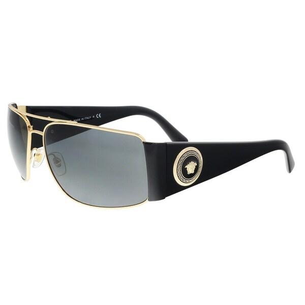 fe6f10eafaa Shop Versace VE2163 100287 Gold Rectangle Sunglasses - 63-15-135 ...