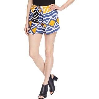 Ella Moss Womens Luana Casual Shorts Crepe Printed