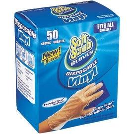 Soft Scrub 50Ct Pf Vinyl Glove