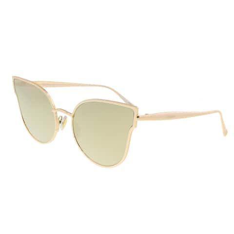 Max Mara MM ILDW III 000 Gold Cateye Sunglasses - 57-19-140