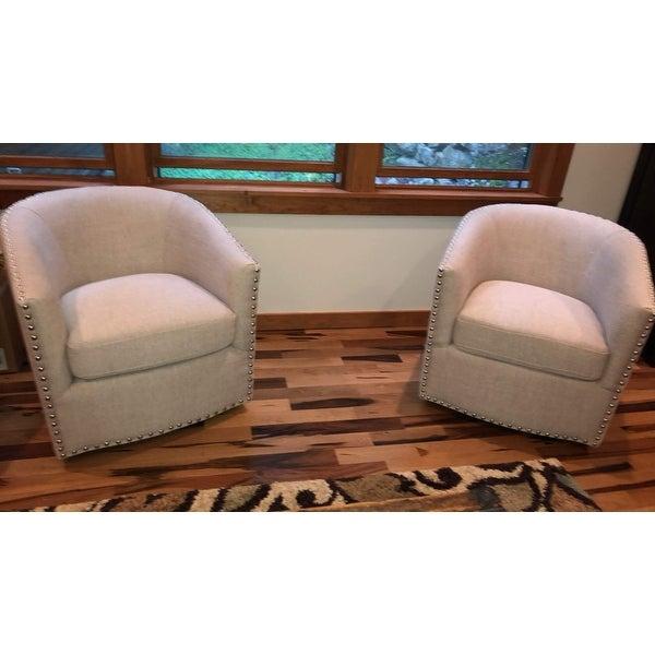 Shop Jasper Laine Tyler Deauville Hemp Swivel Chair - Free Shipping ...