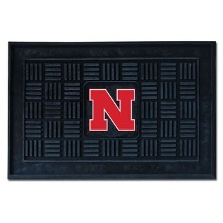 University of Nebraska NCAA Sports Team Logo Medallion Door Mat
