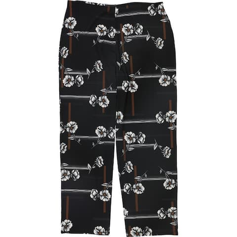 Alfani Womens Printed Casual Wide Leg Pants