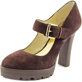 Michael Michael Kors Flynn Mary Jane Round Toe Suede Mary Janes