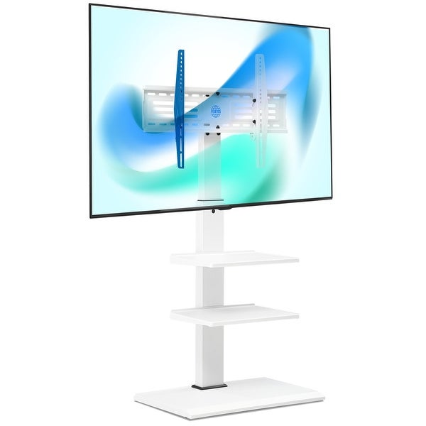 FITUEYES TV Stand with Swivel Mount for 32-65 Inches TV White - 32-65 inches. Opens flyout.