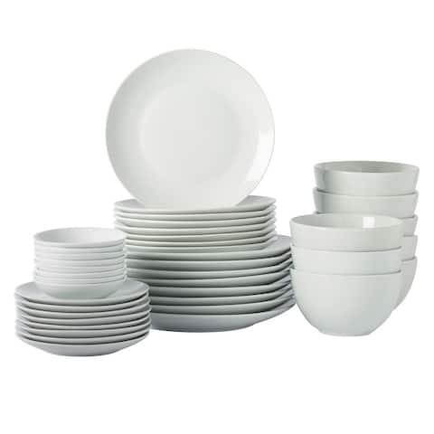 Tabletops Gallery 40PC White Adams Dinnerware Set