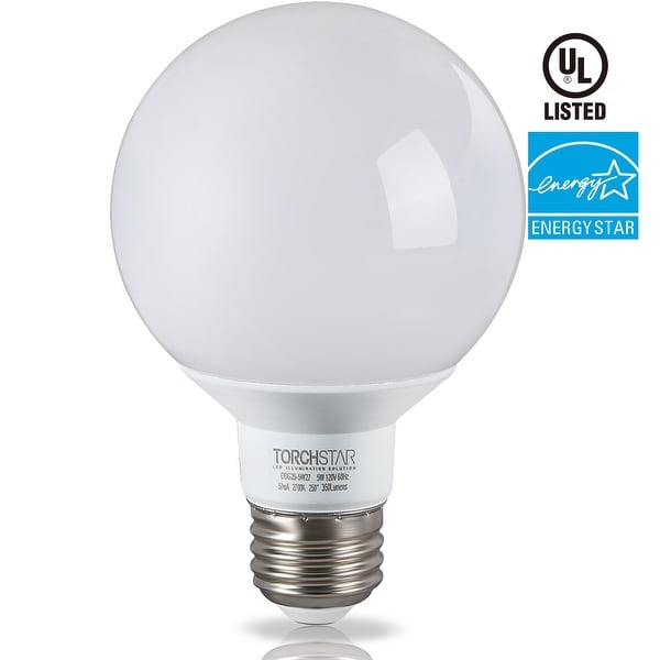 1/6 PACK G25 Globe LED Light Bulb, 5W (40W Equiv),2700K Soft White/5000K Daylight