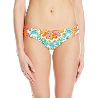 Trina Turk NEW Orange Green 4 Graffiti Floral Bikini Bottom Swimwear