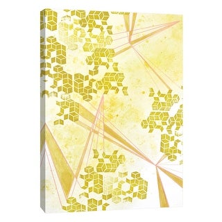 """PTM Images 9-108615  PTM Canvas Collection 10"""" x 8"""" - """"Golden Fractals 2"""" Giclee Abstract Art Print on Canvas"""