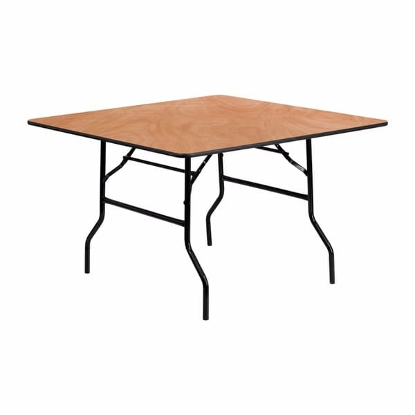 Shop offex 48 square wood folding banquet table of yt wfft48 sq offex 48x27x27 square wood folding banquet table of watchthetrailerfo