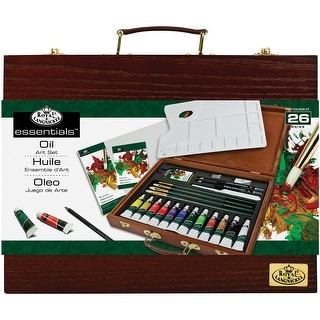 Wooden Box Art Set-Oil Painting 26pc