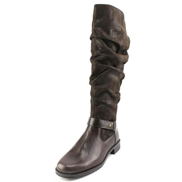 A2 By Aerosoles Ride With Me Women Dk Brown Combo Boots