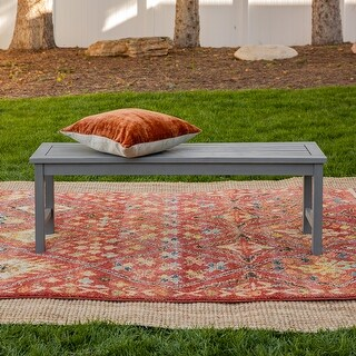Link to Surfside 53-inch Acacia Outdoor Bench by Havenside Home Similar Items in Patio Furniture