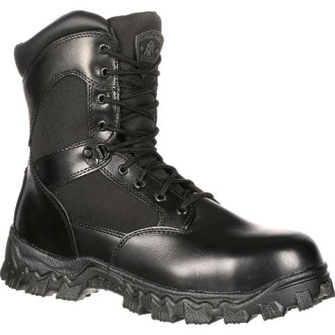 Alpha Force Zipper Waterproof Public Service Boot by Rocky Boots #FQ0002173
