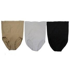 Women 3 Pack Seamless High Cut Long Shapewear Control Briefs Panties