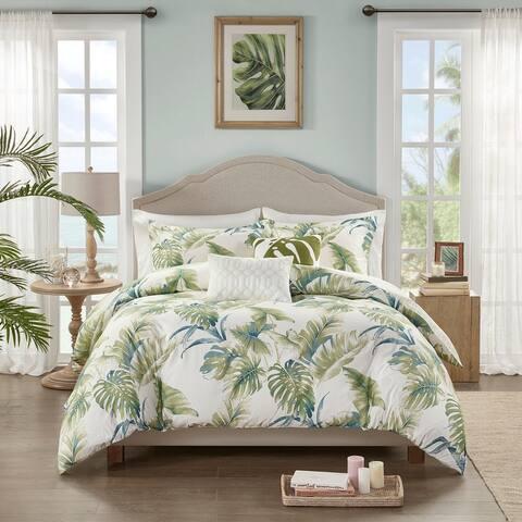 Harbor House Molly Green 5 Piece Cotton Sateen Reversible Comforter Set
