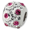 Sterling Silver Reflections White & Pink Crystal Bead - Thumbnail 0