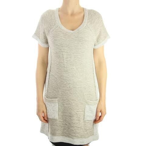 Style & Co. Rye Combo Plus Size Short-Sleeve Sweater 0X