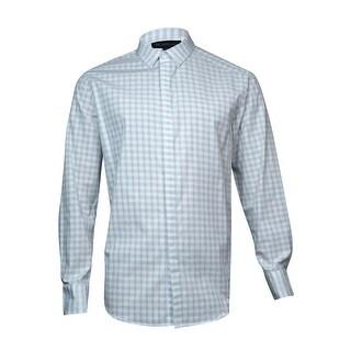 INC International Concepts Men's Button Down Shirt (White, M) - M