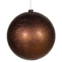 Vickerman M115819 8 in. Chocolate Matte-Glitter Ball