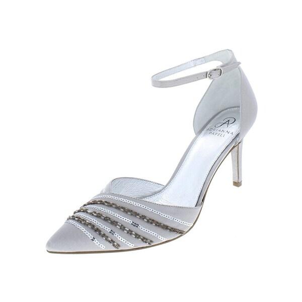 99a194f89c3 Shop Adrianna Papell Womens Helma Dress Heels Satin Glitter - Free ...
