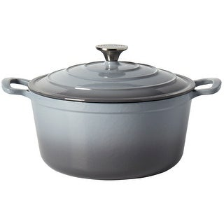 Link to Epicurious 6QT Enamel Cast Iron Covered Round Dutch Oven - Gray Similar Items in Cookware