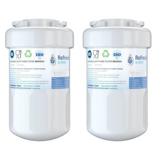 Replaces MWF Water Filter for GE Refrigerator-2 Pack GE MWF Water Filter