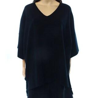 Alfani NEW Black Women's Size Large L Dolman Sleeve V-Neck Sweater