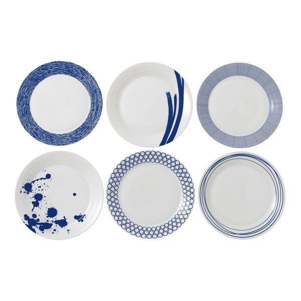 """Pacific Mixed Patterns Dinner Plate 11"""" Set/6. Opens flyout."""