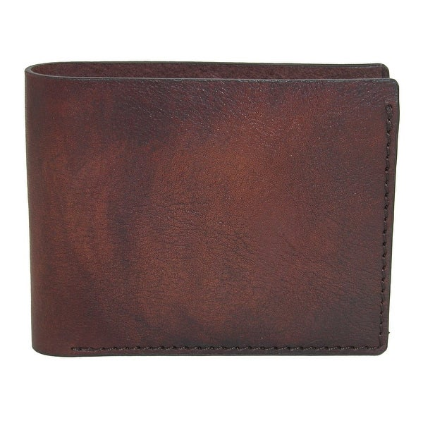 CTM® Men's Leather Bifold Wallet with Interior Coin Pocket - One size